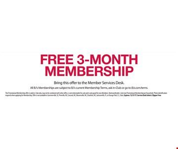 Free 3-month membership