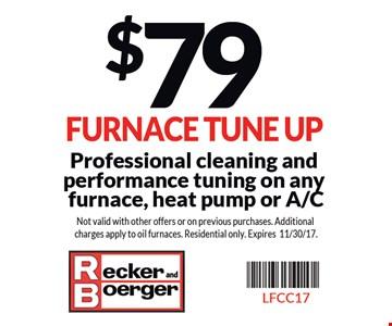 $79 Furnace Tune Up