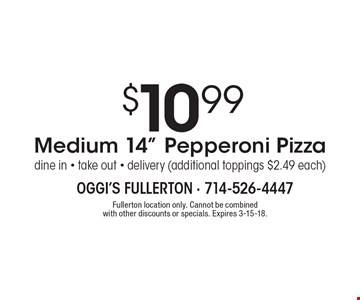 $10.99 Medium 14