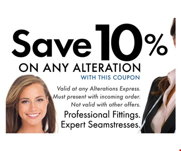 Save 10% On Any Alteration