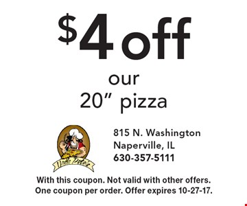 $4 off our20