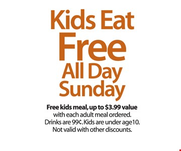 Kids Eat Free All Day Sunday