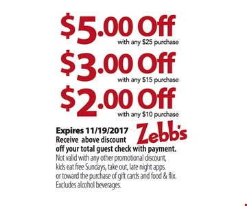 $2.00 to $5.00 Off