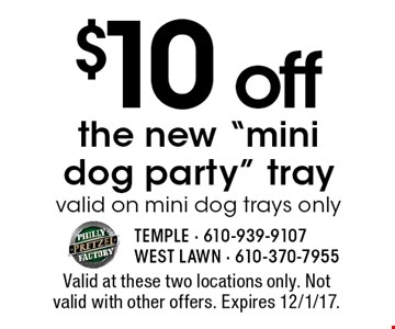 $10 off the new