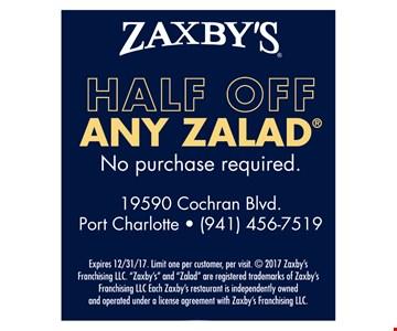 Half off any zalad