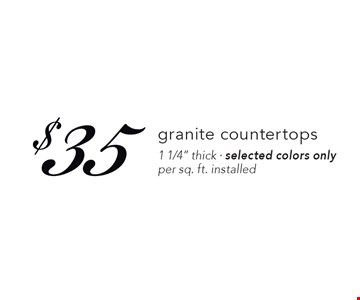 $35 granite countertops1 1/4