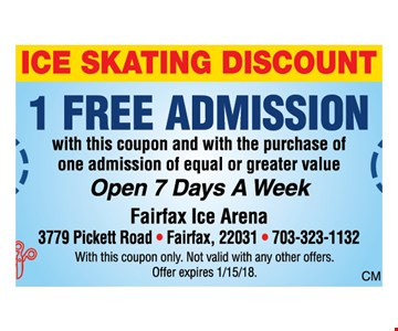 1 free admission with purchase