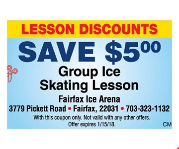 Save $5 on group ice skating lessons