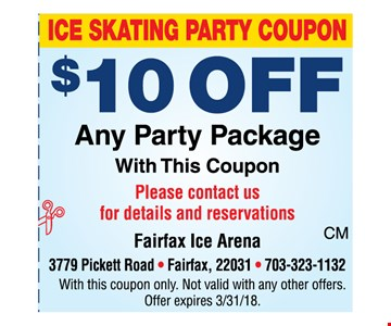 $10 off any party package