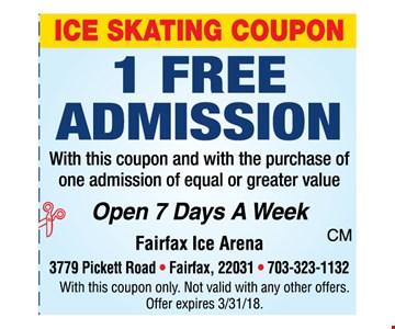 1 free admission