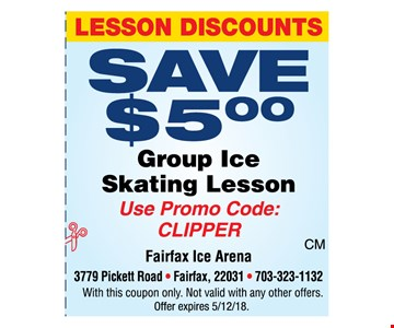 Save $5 Group Ice Sakting Lesson