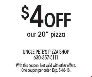 $4 Off our 20