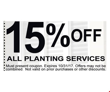 15% Off All Planting Services