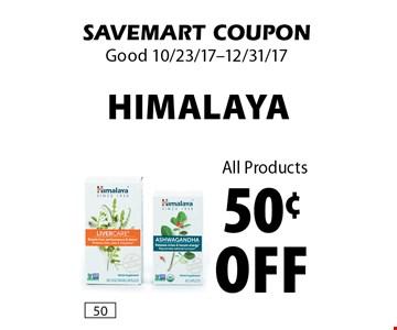 50¢ off Himalaya All Products. SAVEMART COUPON. Good 10/23/17-12/31/17.