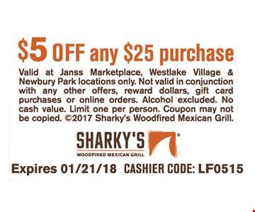 $5 OFF any $25 purchase