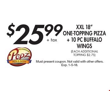 $25.99 + tax XXL 18