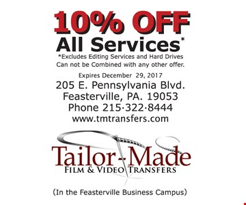 10%off all services