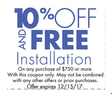 10% off and free installation