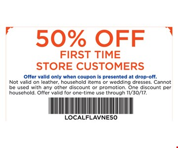 50% off first time store customers