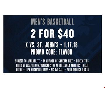 Men's basketball 2 for $40