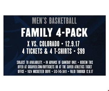 Men's basketball family 4-pack