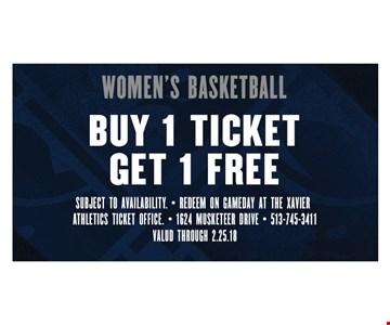 Women's basketball buy 1 ticket get 1 free
