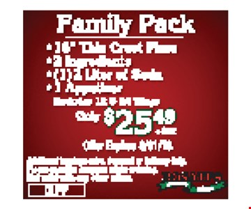 $25.99 Family Pack
