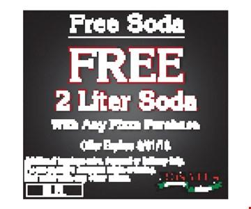 Free 2-liter soda