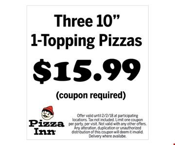 $15.99 for three 10