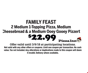 Family feast for $22.99