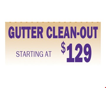 Gutter Clean-out $129
