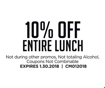 10% Off Entire Lunch