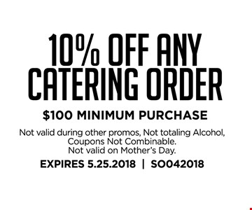 10% off any catering order