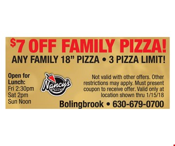 $7 off family pizza