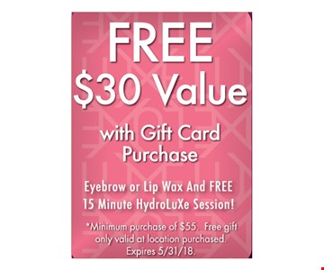 Free $30 value with gift card purchase