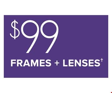 $99 Frames + Lenses
