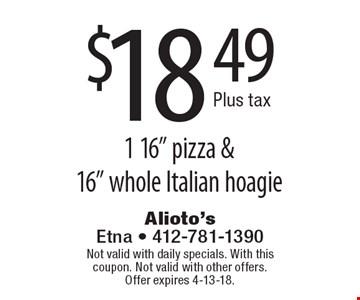 $18.49 plus tax 1 16