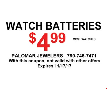 $4.99 watch batteries