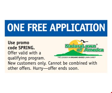 One Free Application. Offer valid with a qualifying program. New customers only. Can not be combined with other offers.