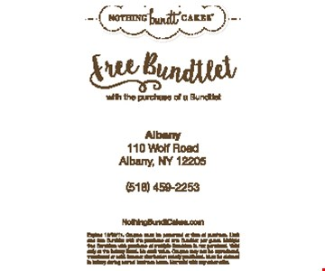 free bundtlet with the purchase of a bundtlet