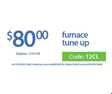 $80 furnace tune up