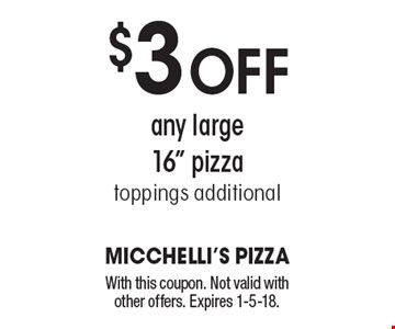 $3 off any large 16