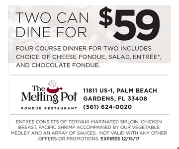 Two Can Dine For $59
