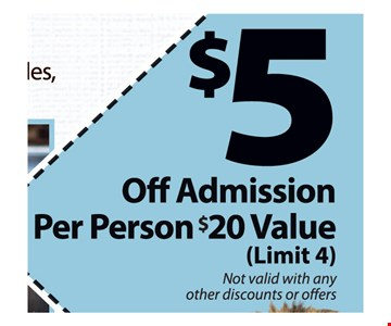 $5 off admission per person