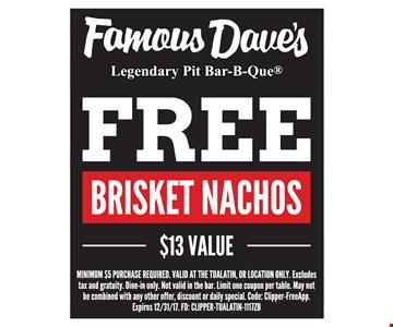 Free brisket nachos