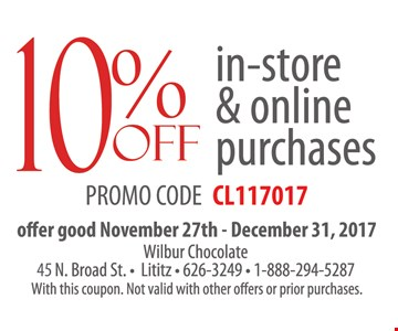 10% Off in-store and online purchases