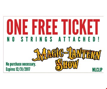 One free ticket