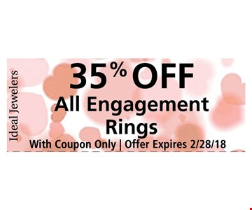 35% off all engagement rings
