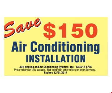 Save $150 Air Conditioning Installation