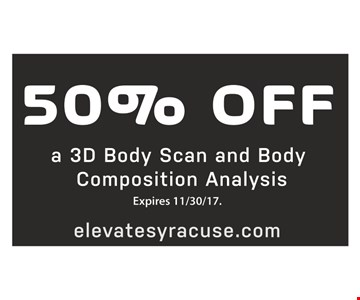 50% off a 3D body scan and body composition analysis